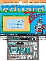 エデュアルド1/72 航空機 ズーム 計器盤/シートベルトMi-26 ヘイロー用 インテリア エッチングパーツ (ズベズダ・レベル対応)