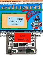 キャンベラ B.2用 計器盤・シートベルト エッチングパーツ (接着剤付) (エアフィックス対応)