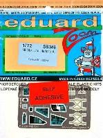 エデュアルド1/72 エアクラフト用 カラーエッチング ズーム (SS-X)Mi-24V ハインド用 計器盤・シートベルト エッチングパーツ (接着剤付) (ホビーボス対応)
