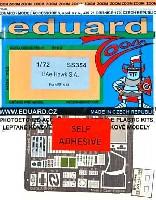 エデュアルド1/72 エアクラフト用 カラーエッチング ズーム (SS-X)Bae ホーク用 計器盤・シートベルト エッチングパーツ (接着剤付) (エアフィックス対応)