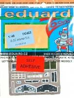 エデュアルド1/48 エアクラフト カラーエッチング ズーム (FE-×)E-2C ホークアイ」用 計器盤・シートベルト エッチングパーツ (キネテック対応)