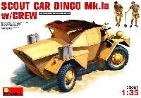ミニアート1/35 WW2 ミリタリーミニチュアディンゴ イギリススカウトカー Mk.1a (フィギュア2体入)