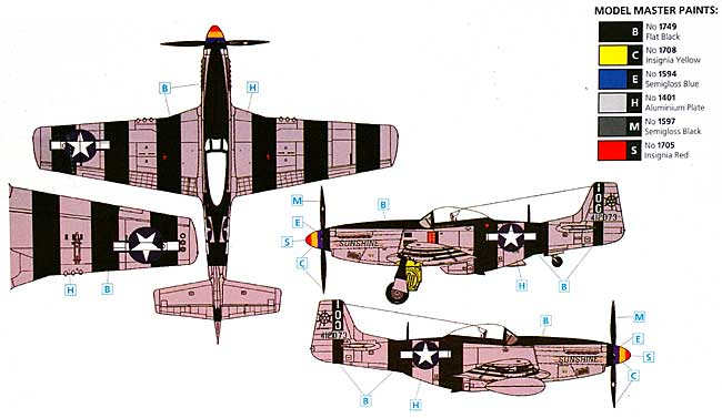 P-51K ムスタングプラモデル(ICM1/48 エアクラフト プラモデルNo.48154)商品画像_2