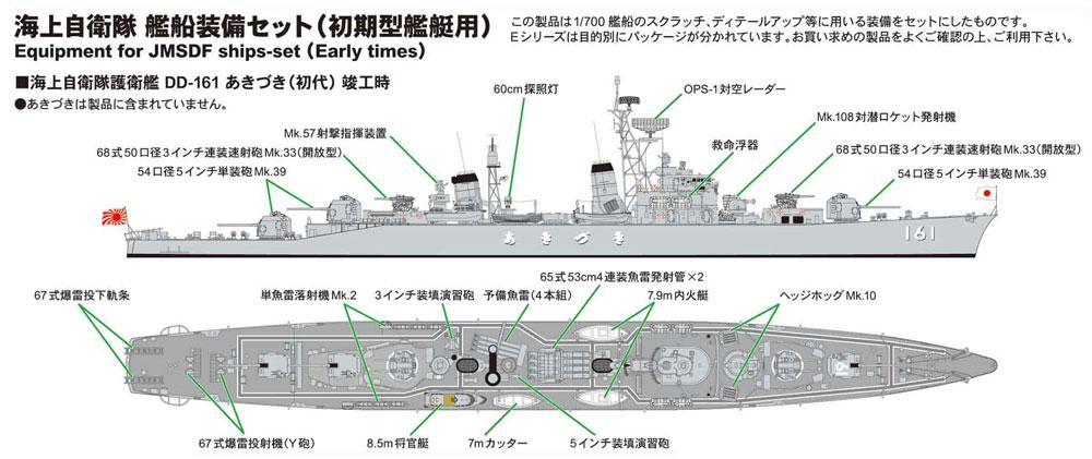 海上自衛隊 艦船装備セット (初期艦艇用)プラモデル(ピットロードスカイウェーブ E シリーズNo.E-015)商品画像_1