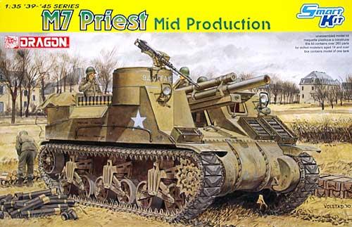 アメリカ M7 自走砲 プリースト 中期生産型プラモデル(ドラゴン1/35