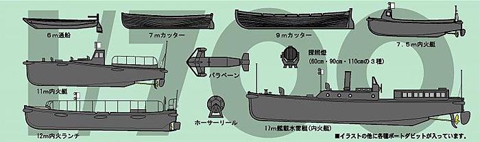 新WW2 日本海軍艦船装備セット (2)プラモデル(ピットロードスカイウェーブ NE シリーズNo.NE002)商品画像_1