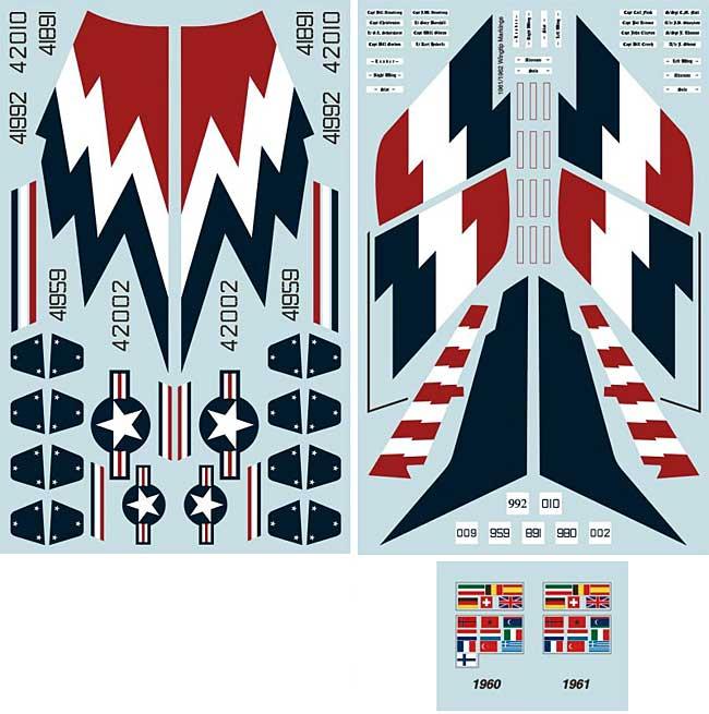 F-100C スーパーセイバー 在欧アメリカ空軍 アクロバットチーム スカイブレイザーズデカール(トゥーボブス1/48 エアクラフト用 デカールNo.48-208)商品画像_3