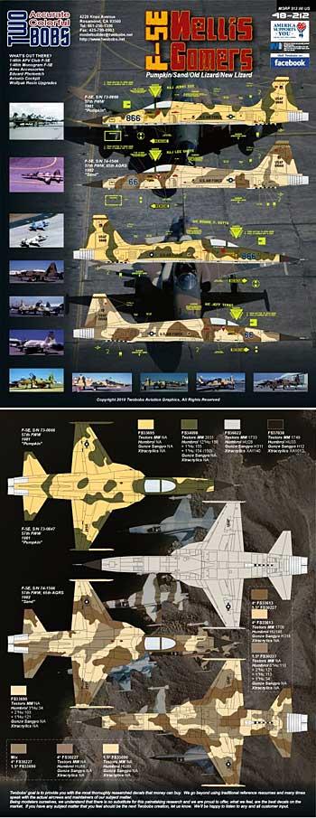 F-5E タイガー 2 ネリス ゴマーズ パート 2デカール(トゥーボブス1/48 エアクラフト用 デカールNo.48-212)商品画像