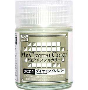 ダイヤモンドシルバー塗料(GSIクレオスMr.クリスタルカラーNo.XC001)商品画像