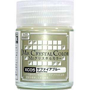 サファイアブルー塗料(GSIクレオスMr.クリスタルカラーNo.XC005)商品画像