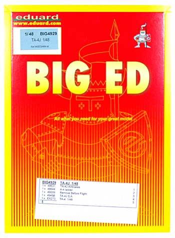 TA-4J スカイホーク用 エッチングパーツセット (ハセガワ対応)エッチング(エデュアルド1/48 BIG ED (AIR)No.BIG-4929)商品画像