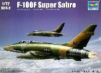 トランペッター1/72 エアクラフト プラモデルアメリカ空軍 F-100F スーパーセイバー