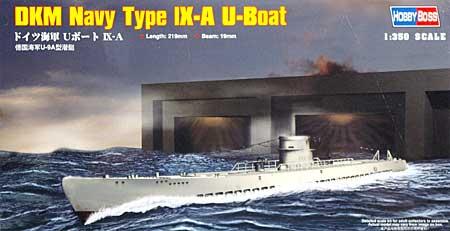 ドイツ海軍 Uボート 9Aプラモデル(ホビーボス1/350 艦船モデルNo.83506)商品画像