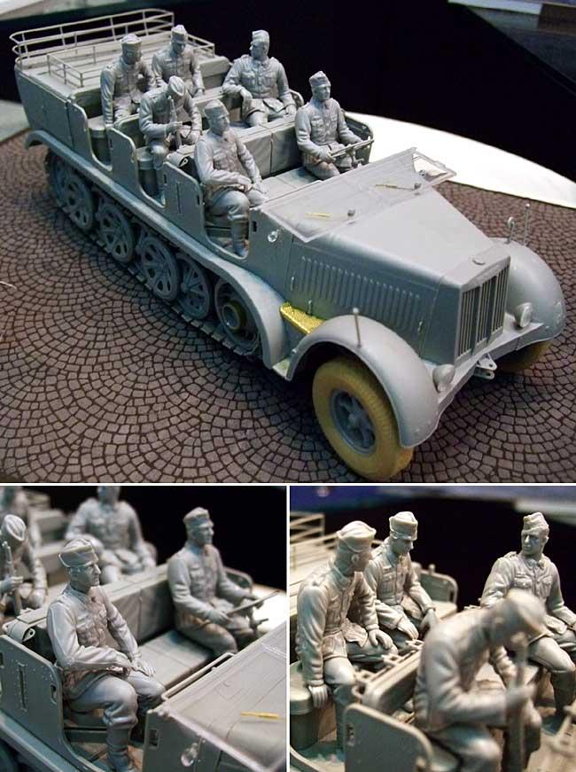 ドイツ Sd.Kfz.7 8t ハーフトラック 初期生産型 w/クループラモデル(ドラゴン1/35 '39-'45 SeriesNo.6545)商品画像_1