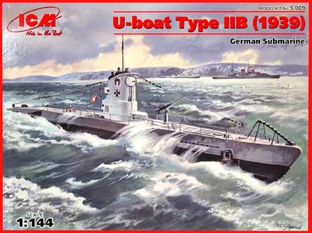 ドイツ Uボート タイプ2B (1939年)プラモデル(ICM1/144 シップ&ボートNo.S.009)商品画像