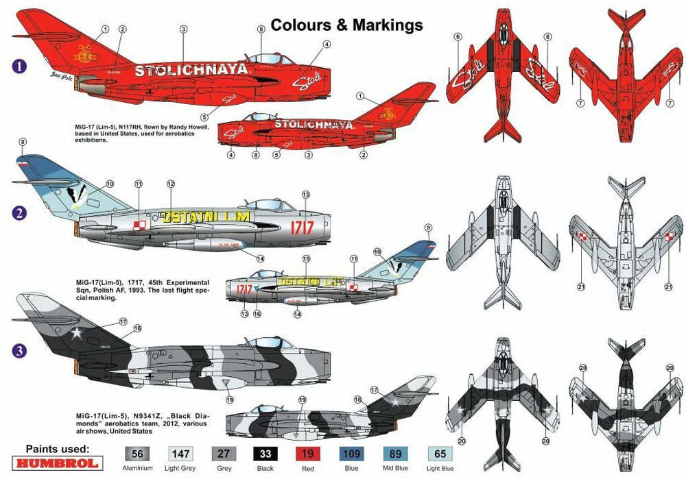 MiG-17F スペシャルマーキングプラモデル(AZ model1/72 エアクラフト プラモデルNo.AZ7554)商品画像_1