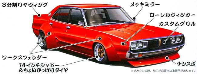 ケンメリ 4Dr スペシャル (CG110・1972年)プラモデル(アオシマ1/24 もっとグラチャン シリーズNo.SP050163)商品画像_1