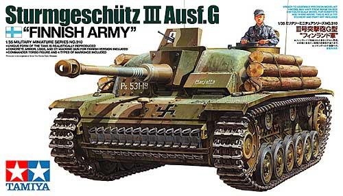 3号突撃砲 G型 フィンランド軍プラモデル(タミヤ1/35 ミリタリーミニチュアシリーズNo.310)商品画像
