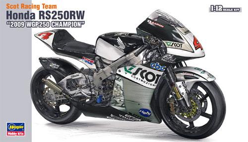 スコット レーシングチーム ホンダ RS250RW 2009 WGP チャンピオンプラモデル(ハセガワ1/12 バイクシリーズNo.BK-001)商品画像