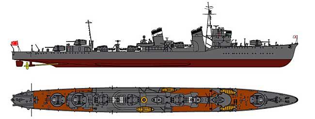 日本海軍 特1型 (吹雪) 駆逐艦 東雲 (しののめ)プラモデル(ピットロード1/700 スカイウェーブ W シリーズNo.SPW008)商品画像_2