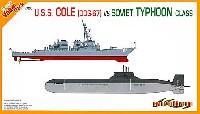 ロシア海軍 タイフーン級原子力潜水艦 + アメリカ海軍 U.S.S.コール (DDG-67)