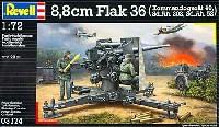 レベル1/72 ミリタリー8.8cm Flak36 w/コマンドゲレーテ40、Sd.Ah.202、Sd.Ah.52