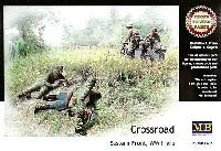 ドイツ兵 & ソ連兵 遭遇シーン (ドイツ軍兵士3体+ソ連軍兵士2体+サイドカー+エッチングパーツ)