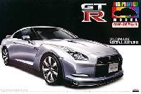 アオシマ1/24 プリペイントモデル シリーズR35 GT-R (アルティメイトメタルシルバー)
