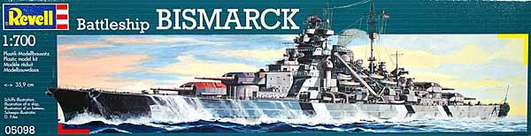 ドイツ戦艦 ビスマルクプラモデル(レベル1/700 艦船モデルNo.05098)商品画像