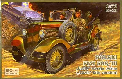 ポーランド フィアット 508/3 小型乗用車 (後期型)プラモデル(IBG1/72 AFVモデルNo.72008)商品画像