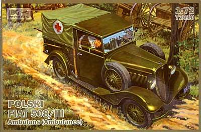 ポーランド フィアット 508/3 救急車タイププラモデル(IBG1/72 AFVモデルNo.72010)商品画像