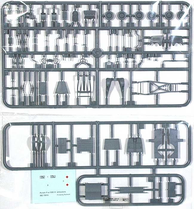 ポーランド フィアット 508/3 救急車タイププラモデル(IBG1/72 AFVモデルNo.72010)商品画像_1