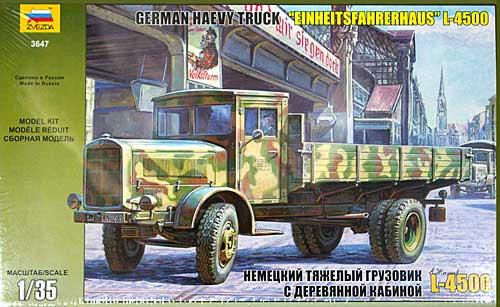 ドイツ L-4500 カーゴトラックプラモデル(ズベズダ1/35 ミリタリーNo.3647)商品画像