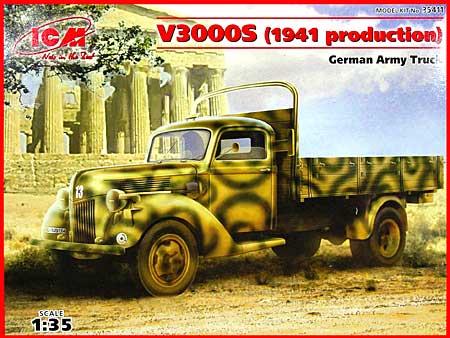 ドイツ フォード V3000S カーゴトラック 1941年生産型プラモデル(ICM1/35 ミリタリービークル・フィギュアNo.35411)商品画像