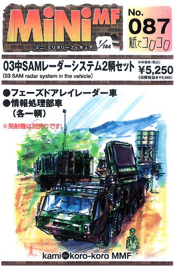 03中SAM レーダーシステム (2輌セット)レジン(紙でコロコロ1/144 ミニミニタリーフィギュアNo.087)商品画像
