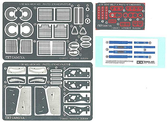 マクラーレン M23 1976 エッチングパーツセットエッチング(タミヤディテールアップパーツシリーズ (自動車モデル)No.12640)商品画像_1