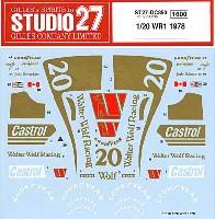 スタジオ27F-1 オリジナルデカールウルフ WR1 1978