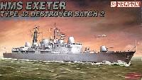 ドラゴン1/700 Modern Sea Power Seriesイギリス海軍 Type42 バッチ2 駆逐艦 H.M.S. エグゼター