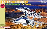 ドラゴン1/144 ウォーバーズ (プラキット)EA-18G グラウラー VAQ-141 シャドウホークス & VX-9 バンパイアーズ (2機セット)