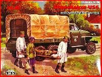 ICM1/35 ミリタリービークル・フィギュアロシア スチュードベイカー US6 トラック w/ソビエト看護兵