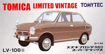 スズキ フロンテ 360 スーパーデラックス (グレー)ミニカー(トミーテックトミカリミテッド ヴィンテージNo.LV-106a)商品画像