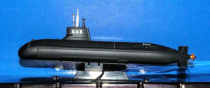 海上自衛隊潜水艦 SS-503 はくりゅう完成品(ピットロード塗装済完成品モデルNo.CPM-010)商品画像_1