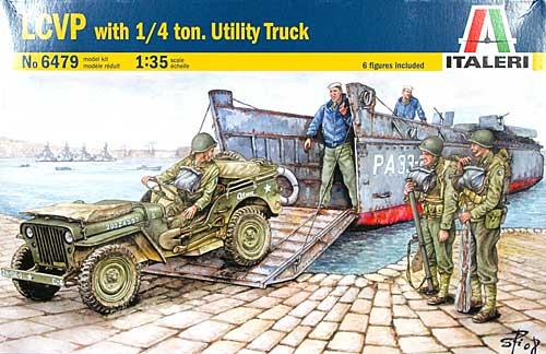 上陸用舟艇 LCVP w/ 1/4 ユーティリティトラックプラモデル(イタレリ1/35 ミリタリーシリーズNo.6479)商品画像