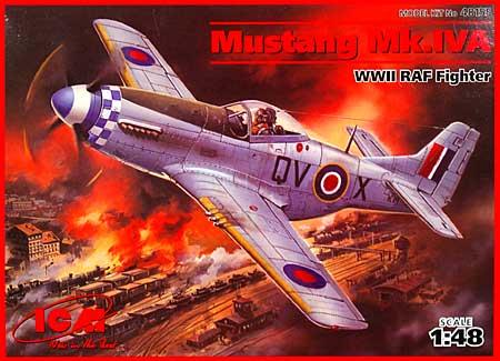 ムスタング Mk.4-A (D型) (WW2 イギリス空軍 戦闘機)プラモデル(ICM1/48 エアクラフト プラモデルNo.48155)商品画像