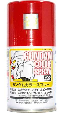 MSレッドスプレー塗料(GSIクレオスガンダムカラースプレーNo.SG004)商品画像
