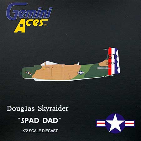 A-1 スカイレーダー アメリカ空軍 6T Spad Dad完成品(ジェミニ ジェット1/72 ジェミニ エース シリーズNo.GAUSA6003)商品画像