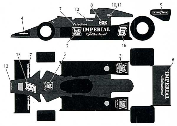 ロータス Type78 インペリアルデカールデカール(タブデザイン1/20 デカールNo.TABU-20081)商品画像_1