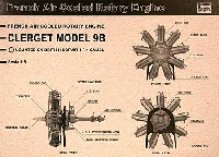 ハセガワミュージアムモデル シリーズクレルジェ 9B エンジン