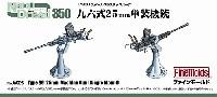 ファインモールド1/350 ナノ・ドレッド シリーズ九六式 25mm 単装機銃