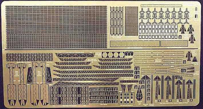 日本海軍 空母赤城用 エッチングパーツ (ハセガワ対応)エッチング(ゴールドメダルモデル1/450 艦船用エッチングパーツNo.GM-4508)商品画像_1
